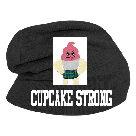 758c1c8a28bb71 Cupcake Strong - Custom Heat Pressed Hipster Slouch Beanie - 146_1069  FF4D76C4AAF3