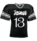 James-12/11/15-13 - Custom Embroidered YouthTeam Football Jersey - Teamwork Athletic -1314 7C241586799D