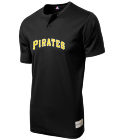 10Larsen10 Youth Pirates Two-Button Jersey - Pirates-MAIY83