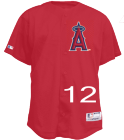 12 - Custom Heat Pressed Angels Official MLB Full Button Youth Jersey - MA654Y EBE757A7AD8C