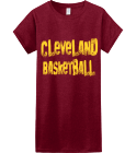 Mankomal-Back to the future-Cleveland-Basketball - Custom Heat Pressed Womens Junior Shirts & Tees Gildan® Ladies SoftStyle™ Cotton T-Shirt 0B524A444BB4