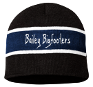 Bailey Bigfooters - Custom Heat Pressed Striped Beanie - SP06 FE37CFD81C83