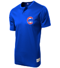 Filmore Eye Clinic-1 - Custom Heat Pressed Cubs Youth 2-Button MLB Jersey - MLB181 2AEB183BE63B