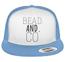 bead and co - Custom Heat Pressed Cotton Front Trucker Hat  - 6006W 93B405E79B02