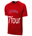 7four - Custom Heat Pressed Angels Adult MLB Replica T-Shirt - 5300 6AB124EB99BD