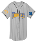 JUNIOR D BACKS WHITE ADULT - Custom Heat Pressed Adult Full Button Wicking Mesh Jersey  - 593 6981C5A50D67