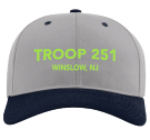 Troop Snap - Custom Embroidered Cotton Snapback Two Color Hat - 212 150A5356AD18