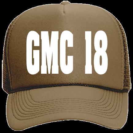 GMC 18 - Custom Heat Pressed Mesh Trucker Hat 32-467 96E23DDBDCA2 95ade0c8c243