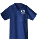 ffac - Custom Heat Pressed Unisex V-Neck Scrubs - 220C B1C36B076ACA