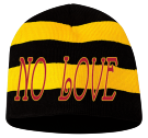 NO LOVE 2 - Custom Heat Pressed Striped Bumble Bee Beanie - 82-1053 C5CF2FDCCEB2