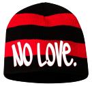 NO LOVE - Custom Heat Pressed Striped Bumble Bee Beanie - 82-1053 CE993B05F3DD