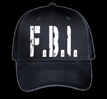 FBI Hat - Custom Heat Pressed Baseball Hats Cheap 19-536 0A8D6F0EC6FA be62339e99a